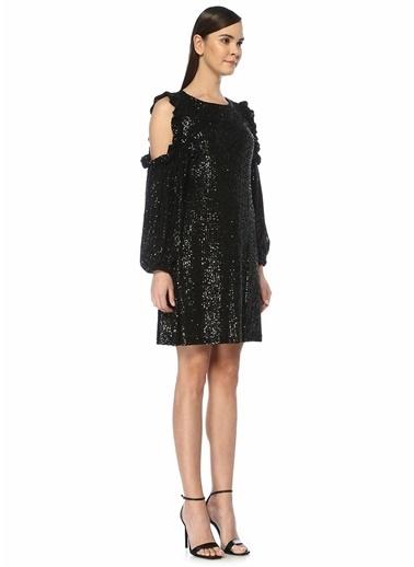 Beymen Club Beymen Club  İşlemeli Omzu Açık Mini Kokteyl Elbise 101447269 Siyah